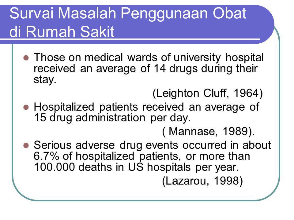 Survai Masalah Penggunaan Obat di Rumah Sakit