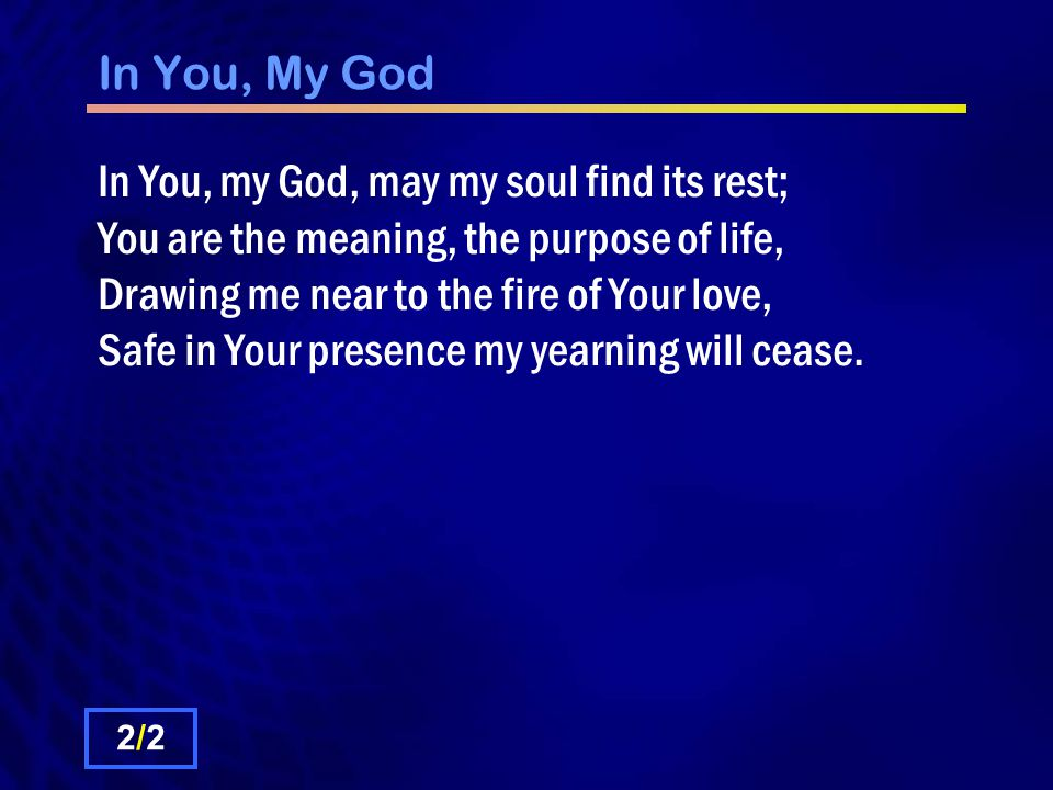 In You, My God