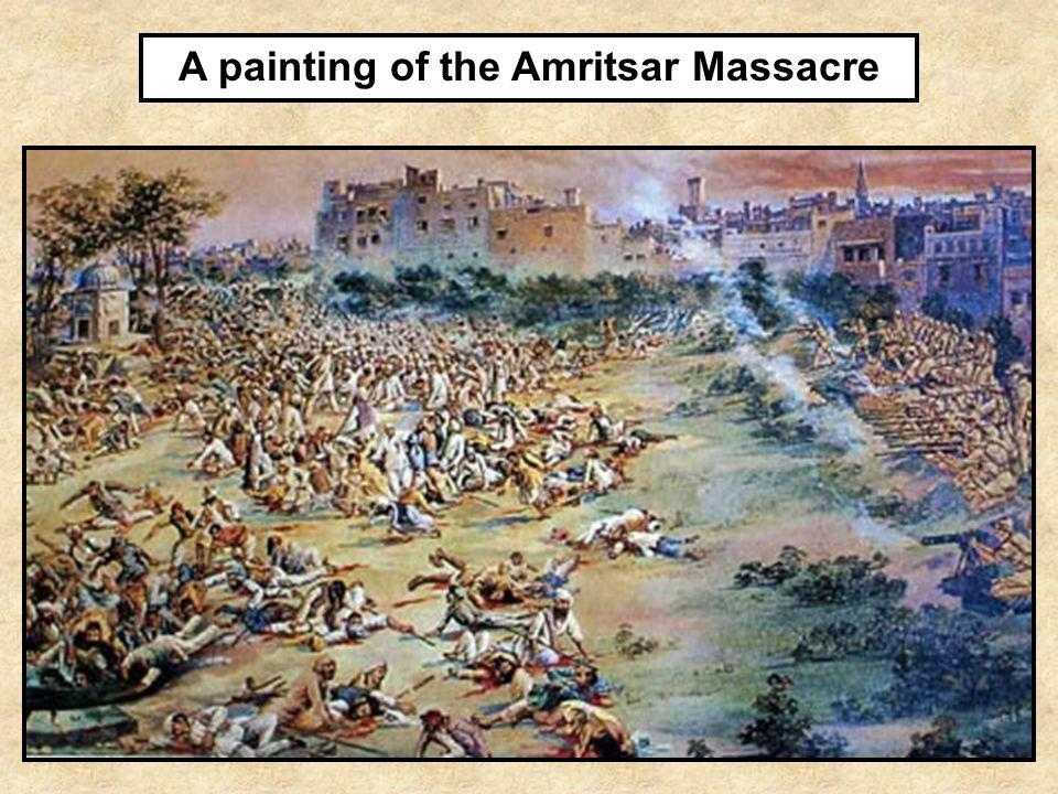A painting of the Amritsar Massacre