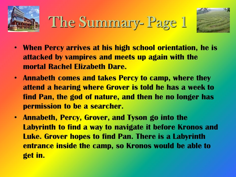 The Summary- Page 1