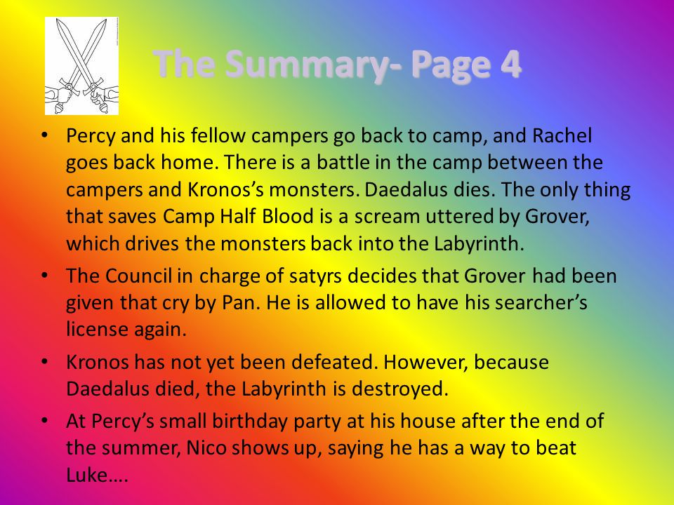 The Summary- Page 4