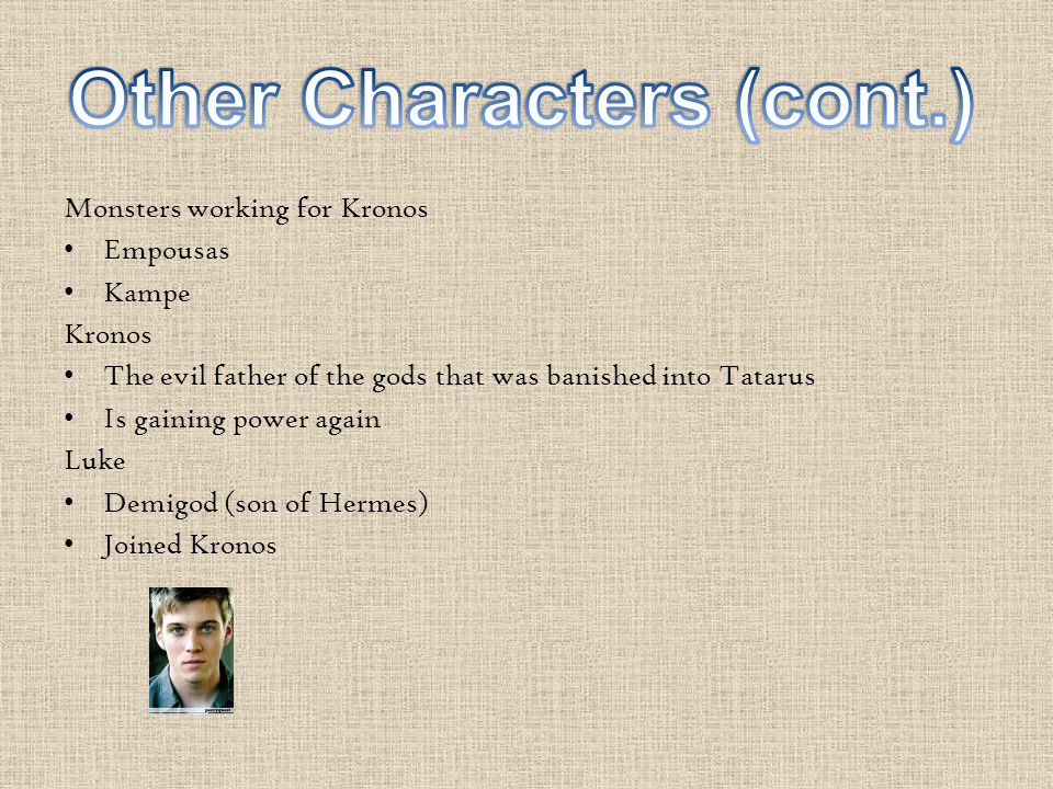 Other Characters (cont.)