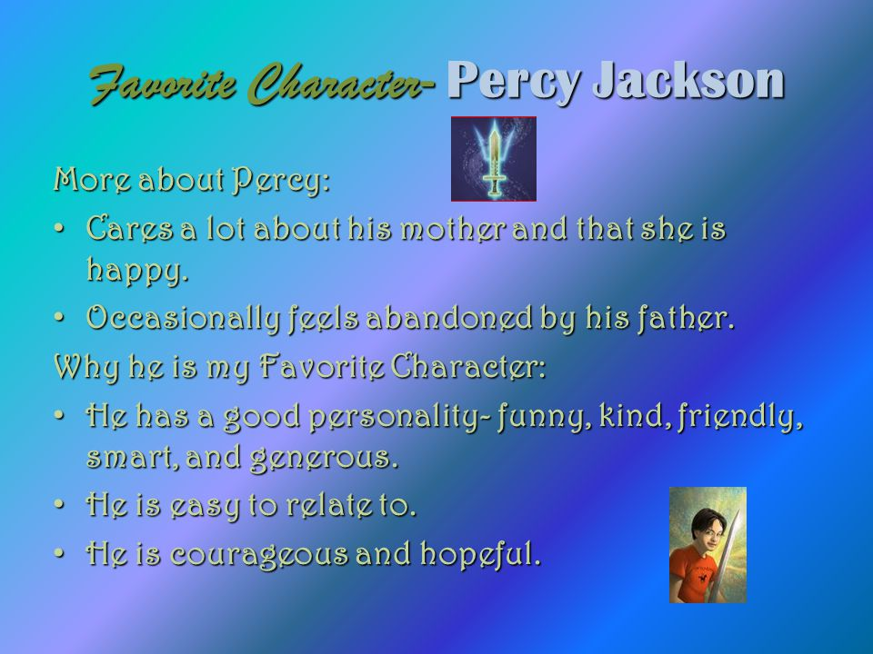 Favorite Character- Percy Jackson