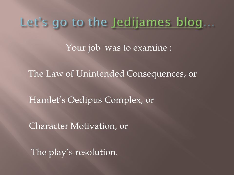 Let's go to the Jedijames blog…