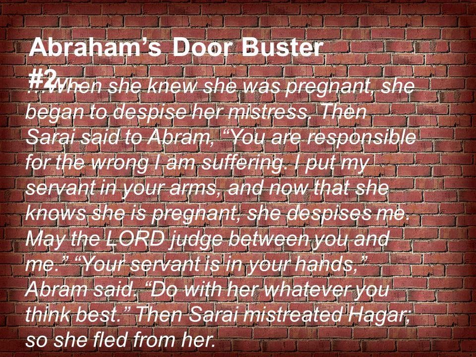 Abraham's Door Buster #2…