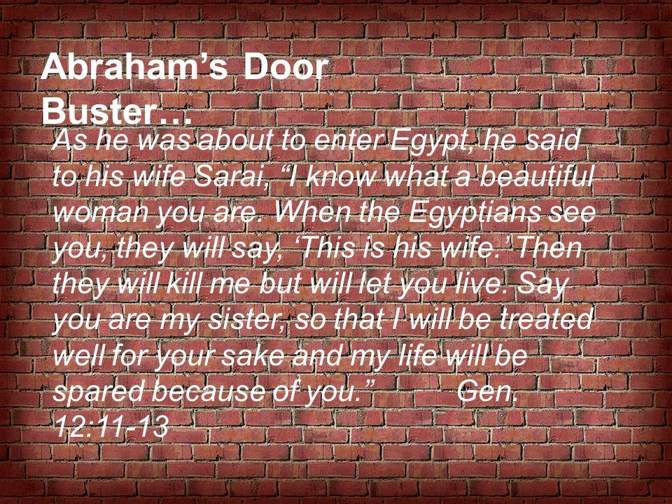 Abraham's Door Buster…