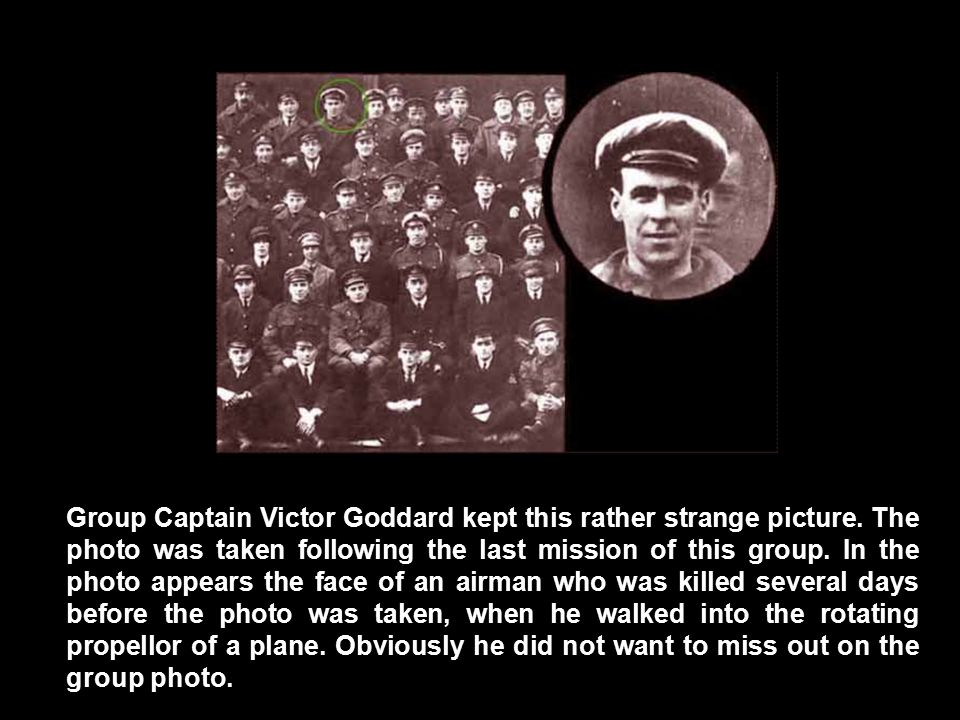 Group Captain Victor Goddard kept this rather strange picture