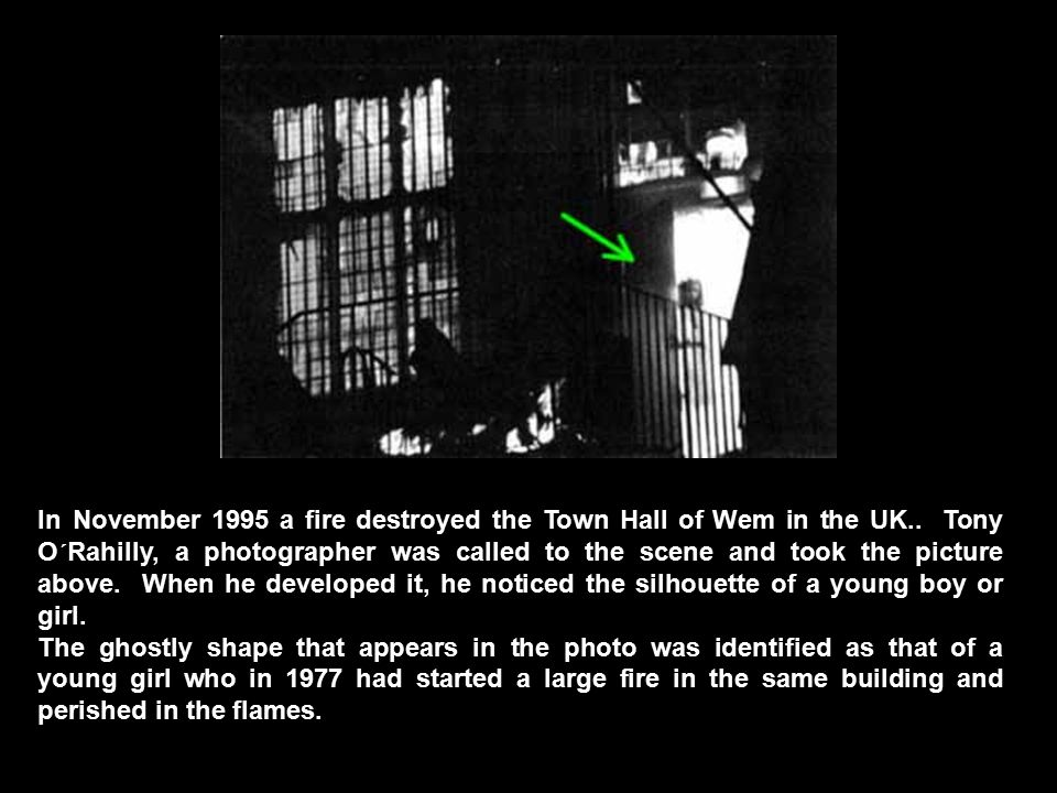 In November 1995 a fire destroyed the Town Hall of Wem in the UK