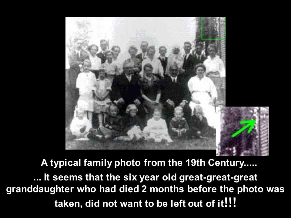 A typical family photo from the 19th Century.....