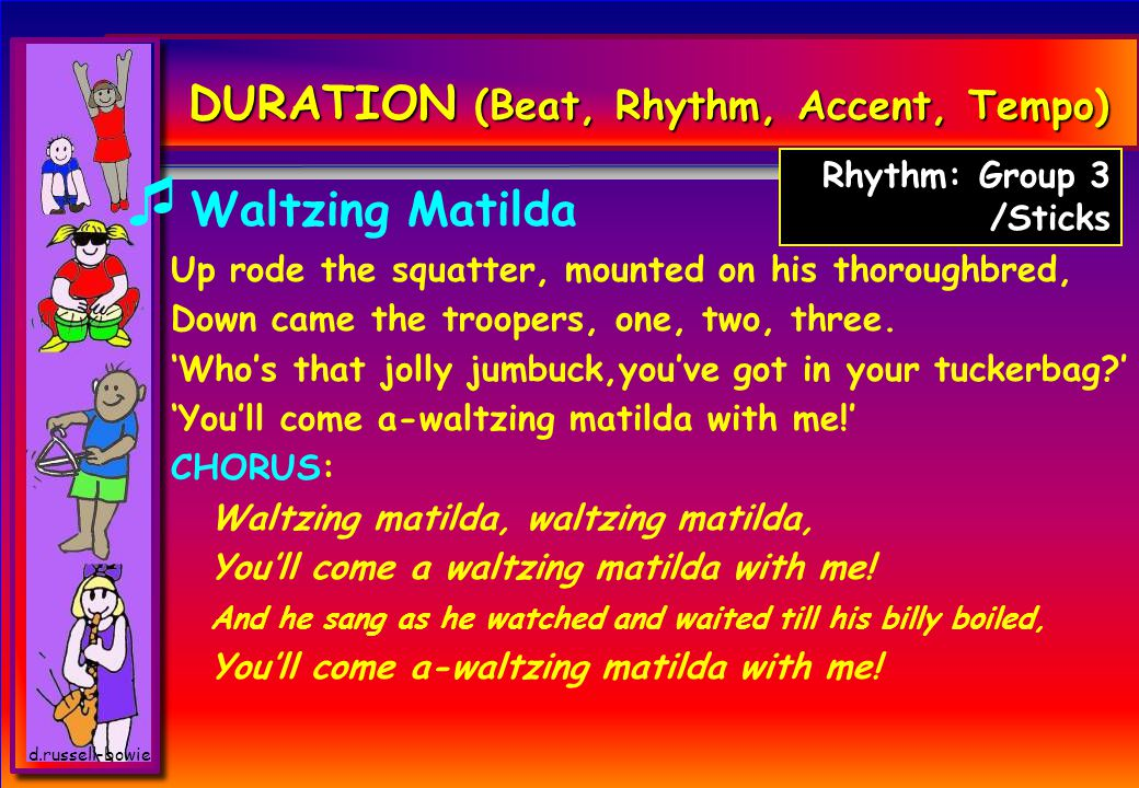 DURATION (Beat, Rhythm, Accent, Tempo)