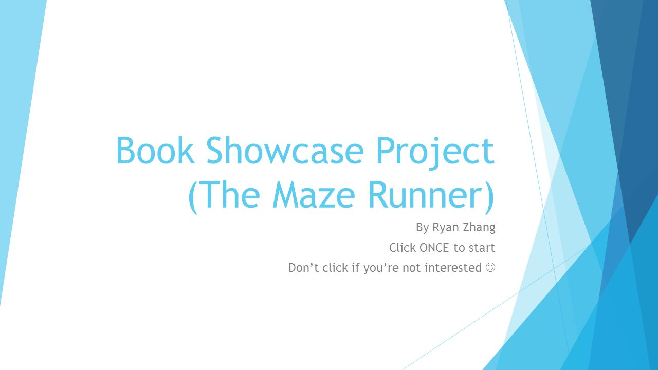 Book Showcase Project (The Maze Runner)