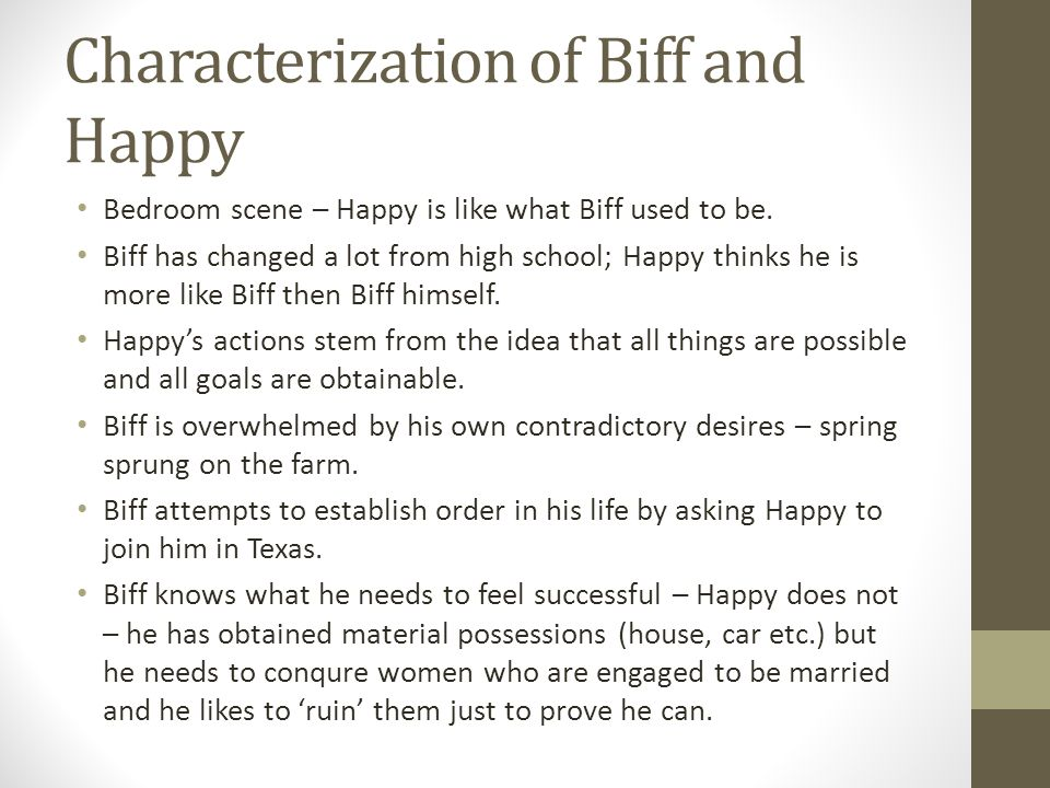 Characterization of Biff and Happy