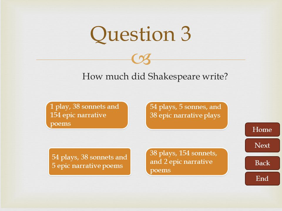 How much did Shakespeare write