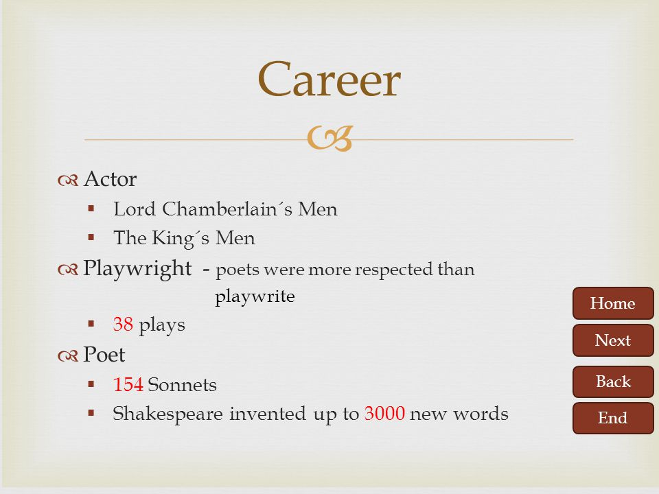 Career Actor Playwright - poets were more respected than Poet
