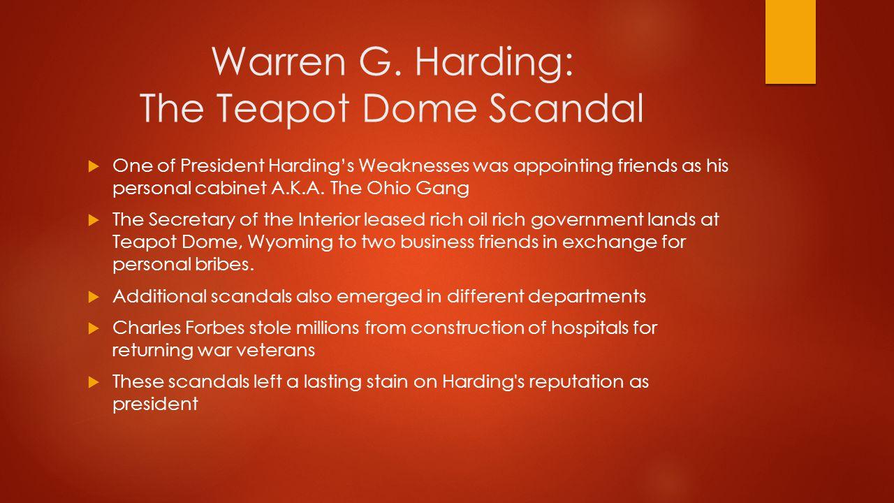Warren G. Harding: The Teapot Dome Scandal