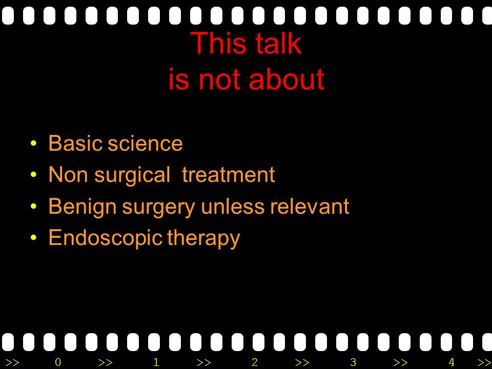 This talk is not about Basic science Non surgical treatment