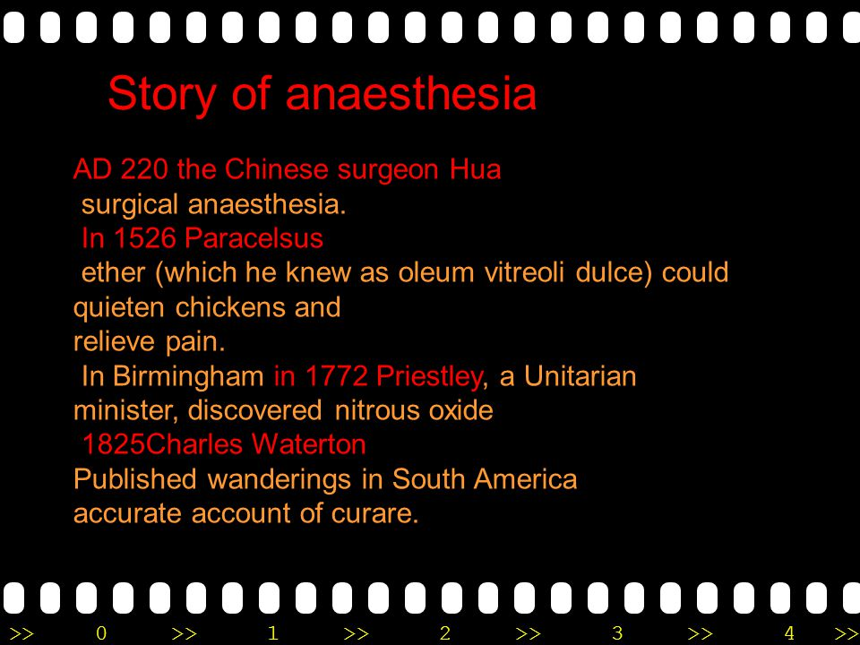 Story of anaesthesia AD 220 the Chinese surgeon Hua