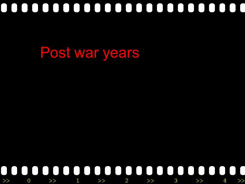 Post war years