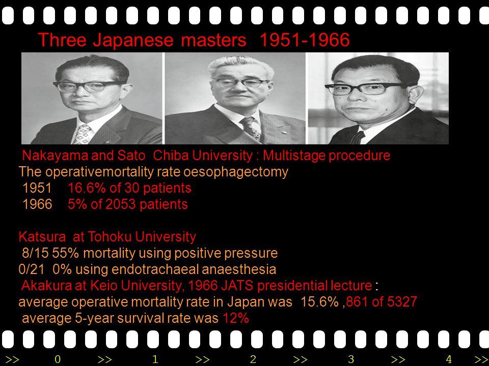 Three Japanese masters 1951-1966
