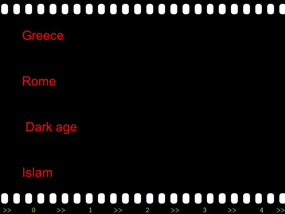 Greece Rome Dark age Islam