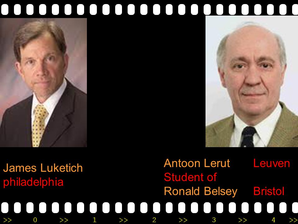 Antoon Lerut Leuven Student of Ronald Belsey Bristol James Luketich philadelphia