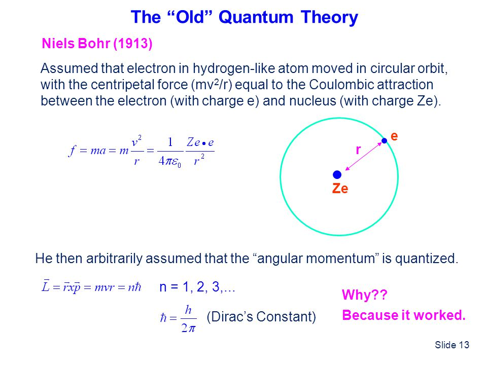 The Old Quantum Theory