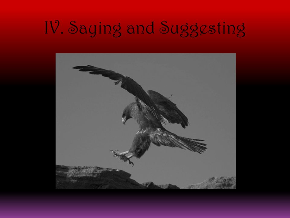 IV. Saying and Suggesting