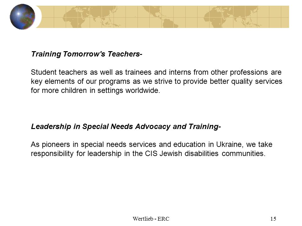 Training Tomorrow s Teachers-
