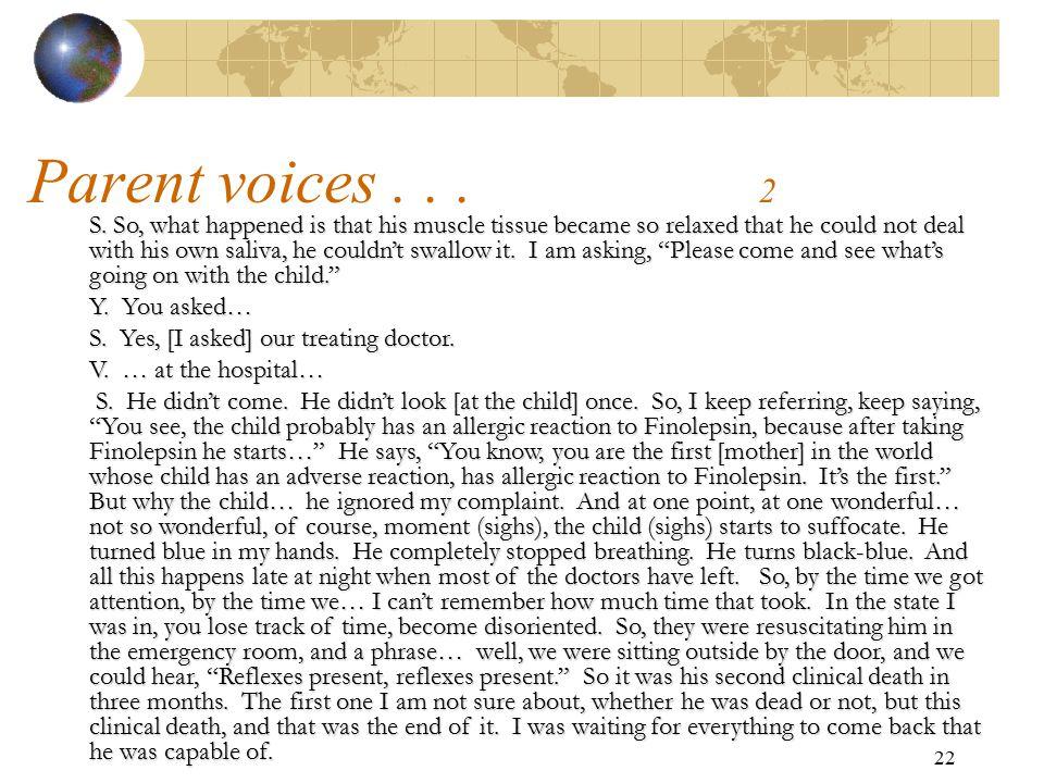 Parent voices . . . 2
