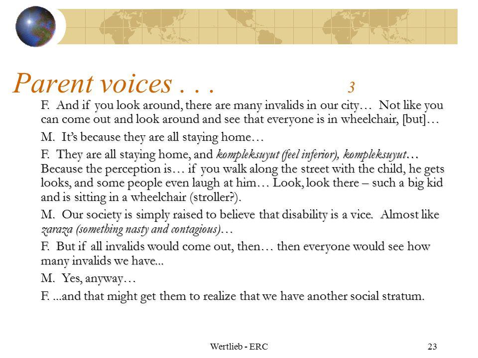 Parent voices . . . 3