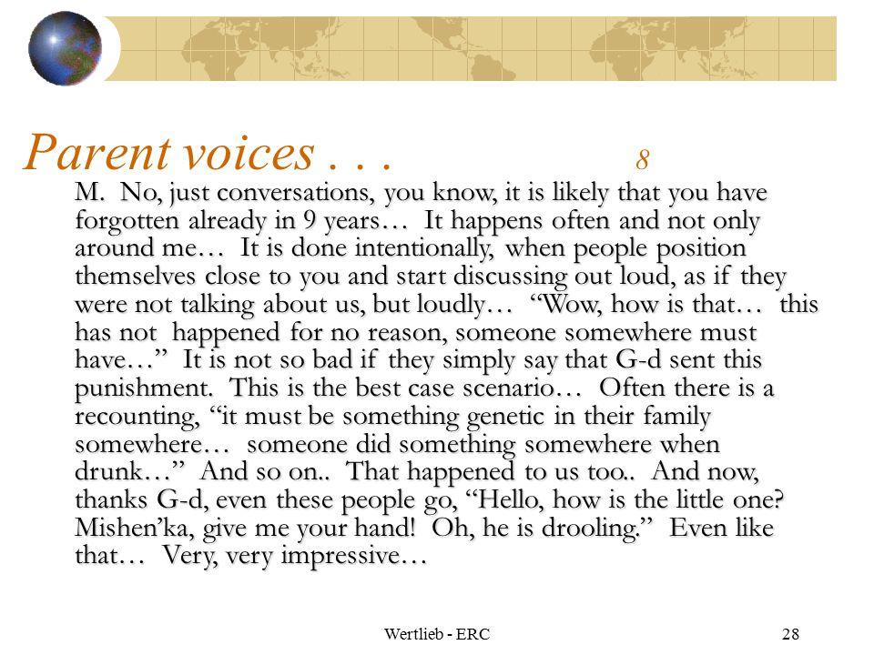 Parent voices . . . 8