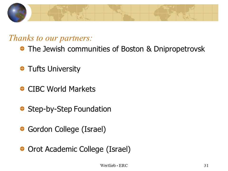 Thanks to our partners: