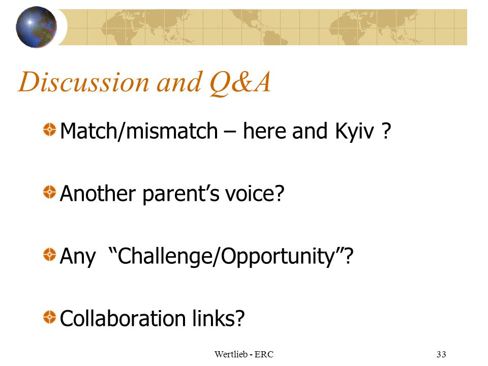 Discussion and Q&A Match/mismatch – here and Kyiv
