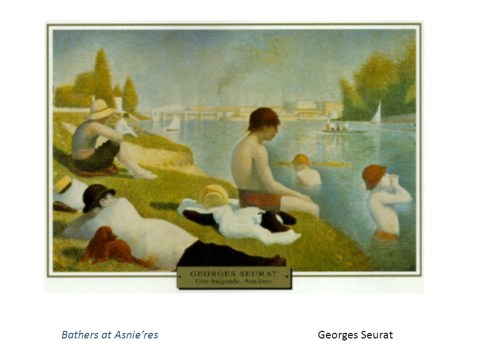 Bathers at Asnie'res Georges Seurat