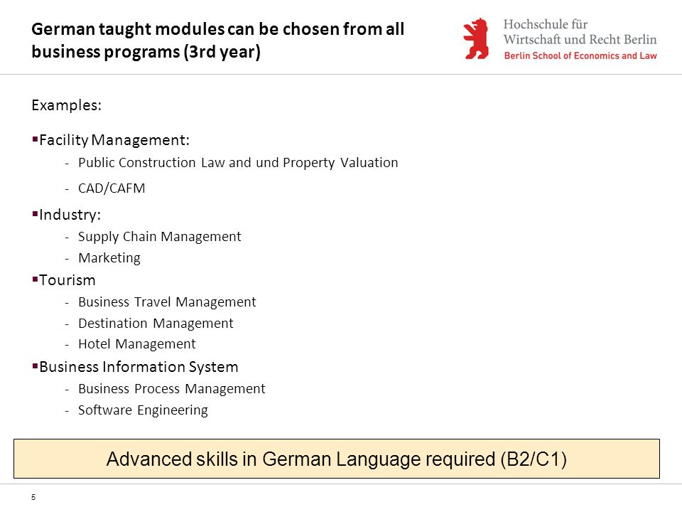 Advanced skills in German Language required (B2/C1)