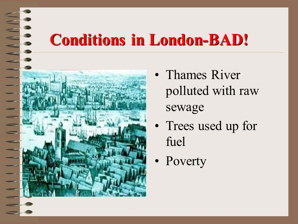 Conditions in London-BAD!