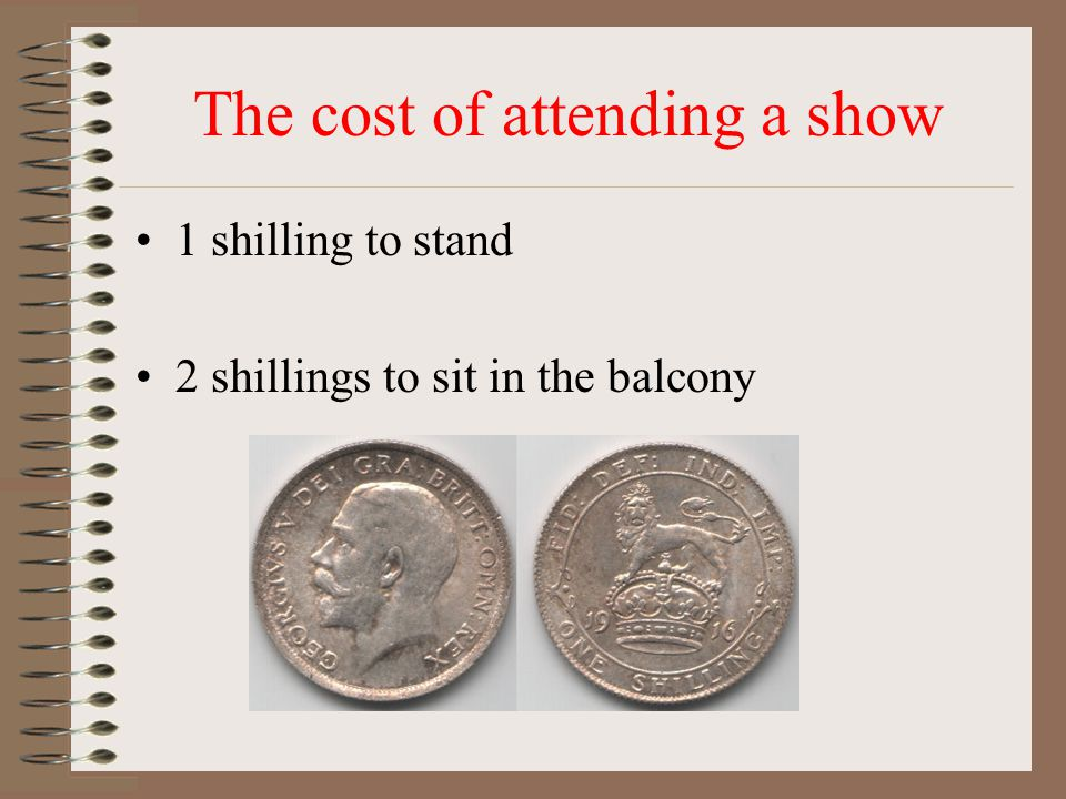 The cost of attending a show
