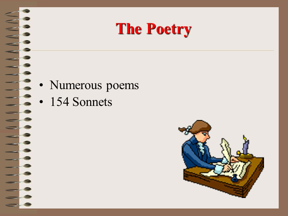 The Poetry Numerous poems 154 Sonnets