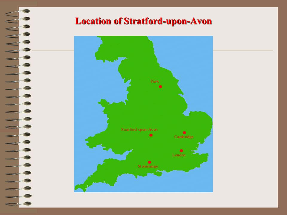Location of Stratford-upon-Avon