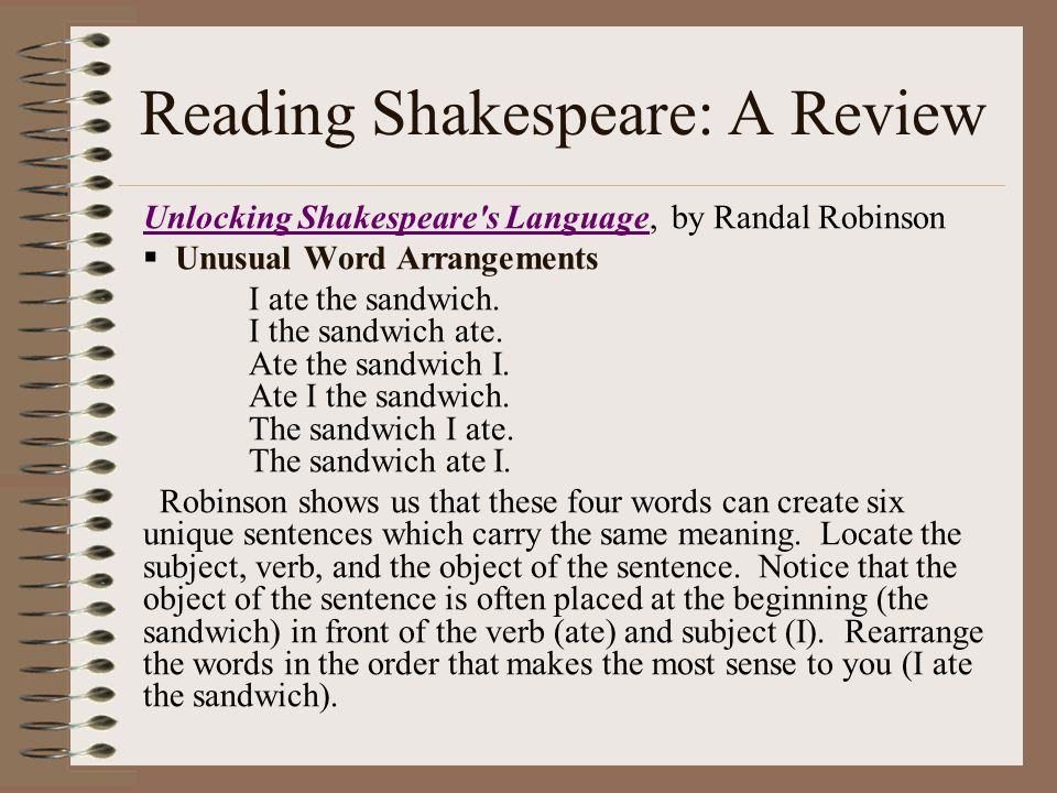Reading Shakespeare: A Review