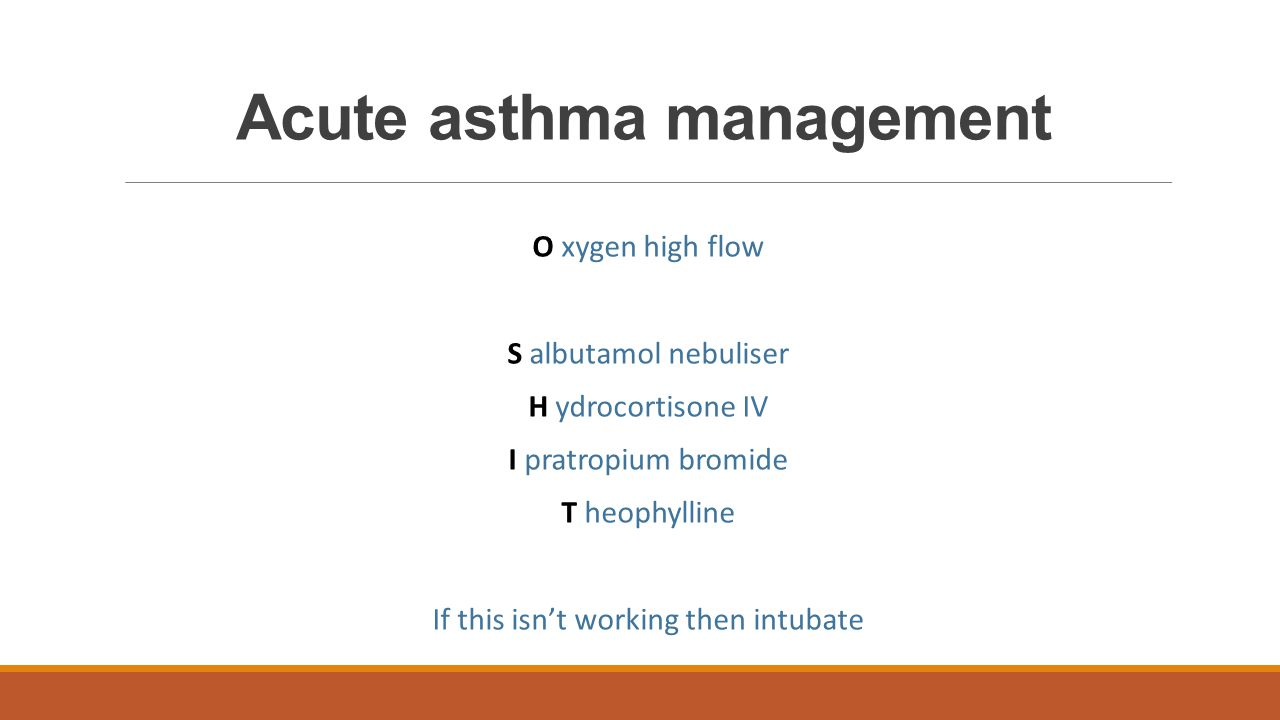 Acute asthma management