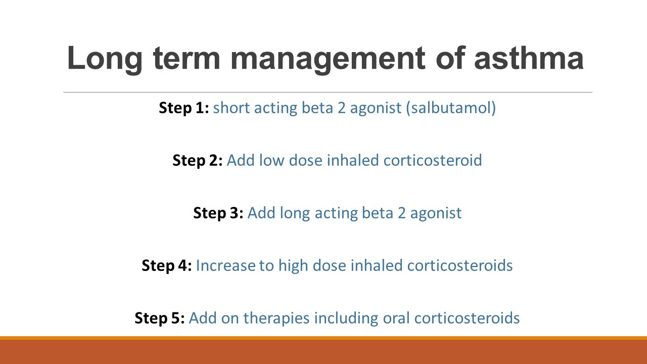 Long term management of asthma