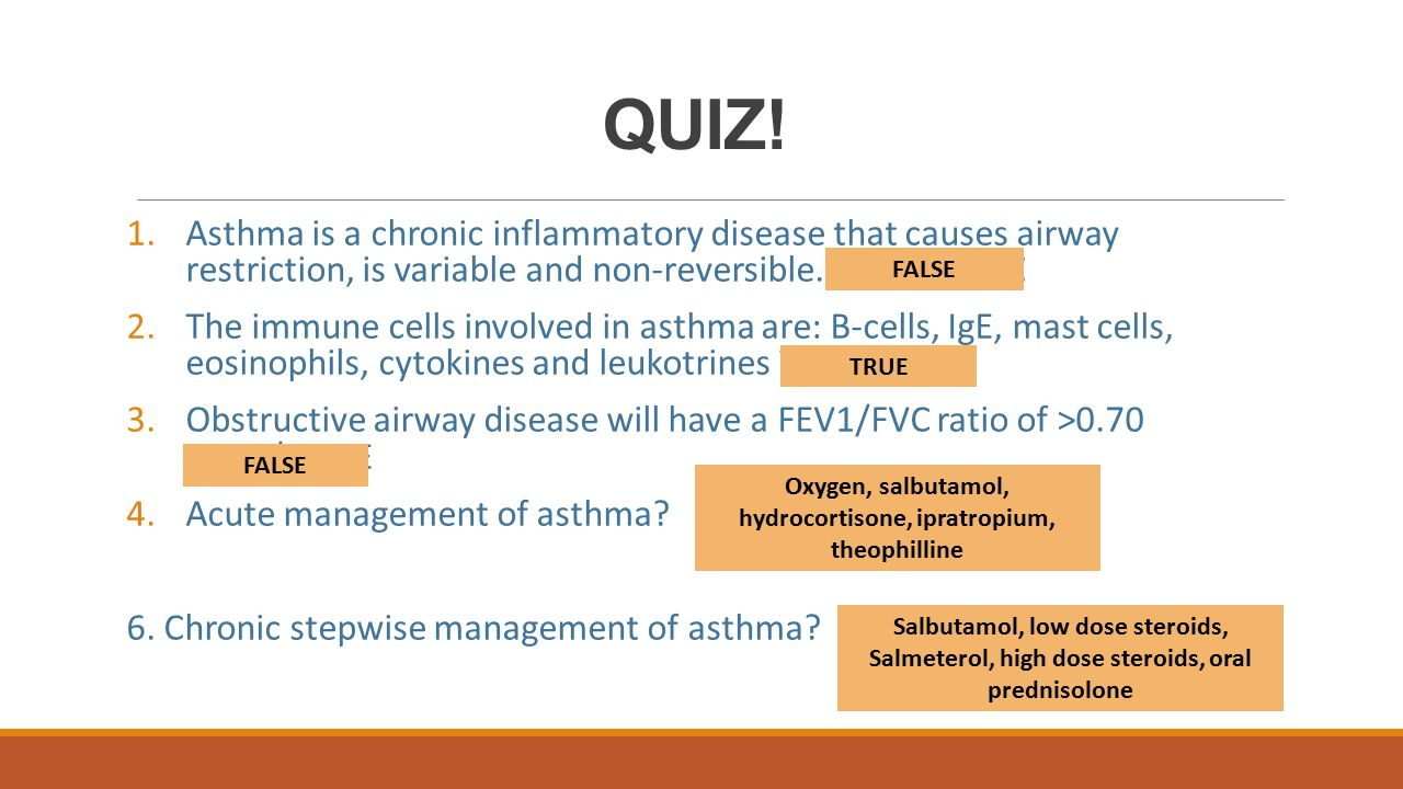Oxygen, salbutamol, hydrocortisone, ipratropium, theophilline