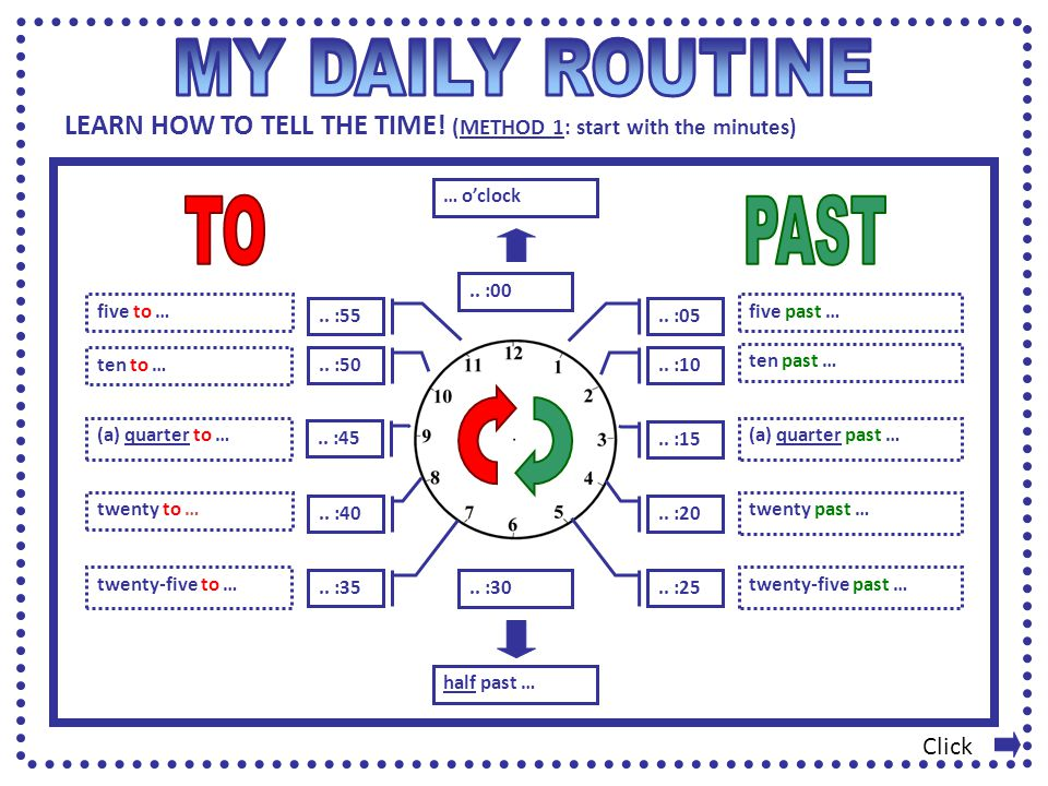 MY DAILY ROUTINE TO PAST