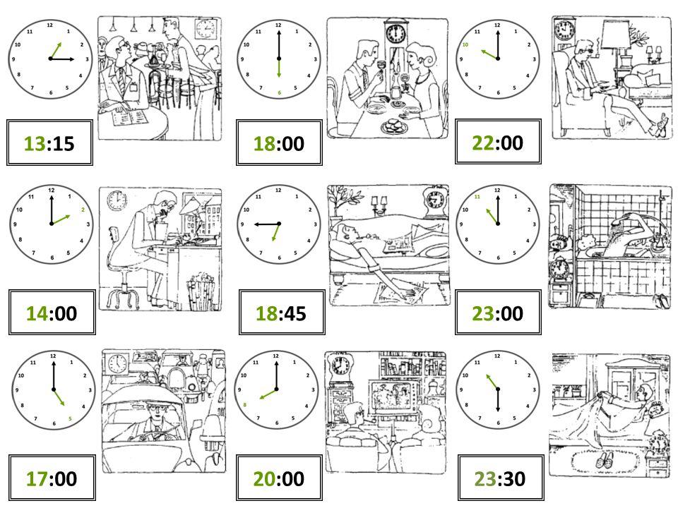13:15 18:00 22:00 14:00 18:45 23:00 17:00 20:00 23:30