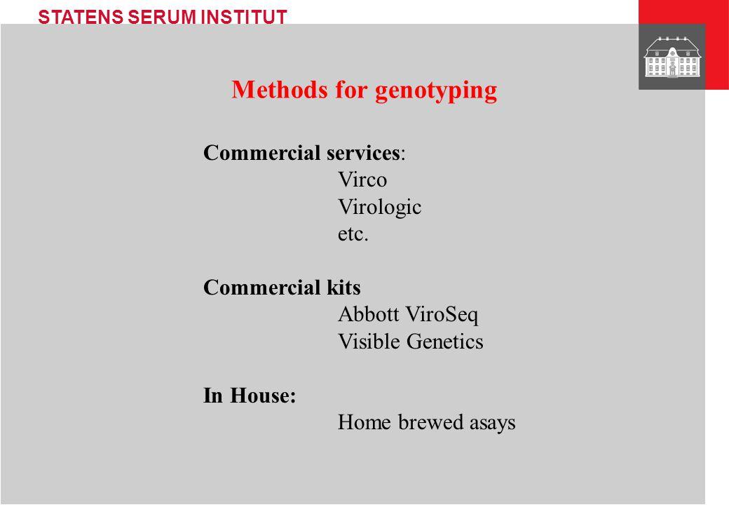 Methods for genotyping