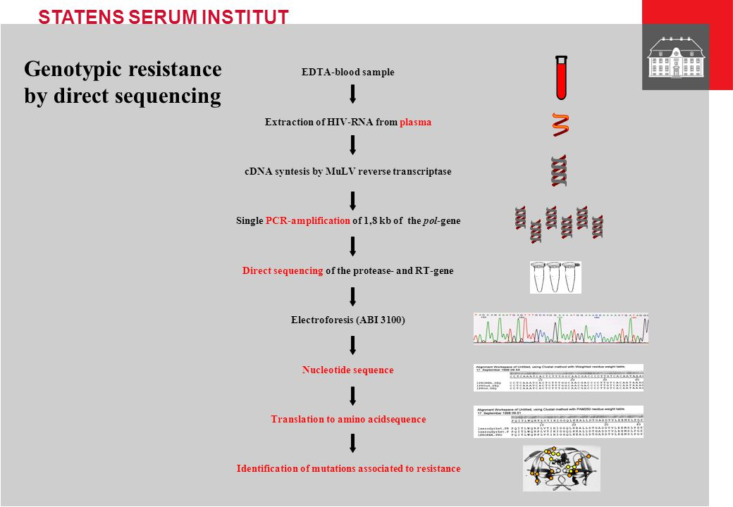Genotypic resistance by direct sequencing EDTA-blood sample