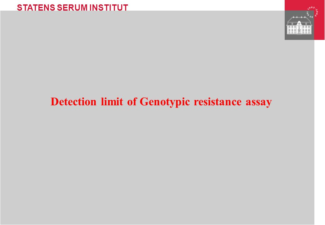 Detection limit of Genotypic resistance assay