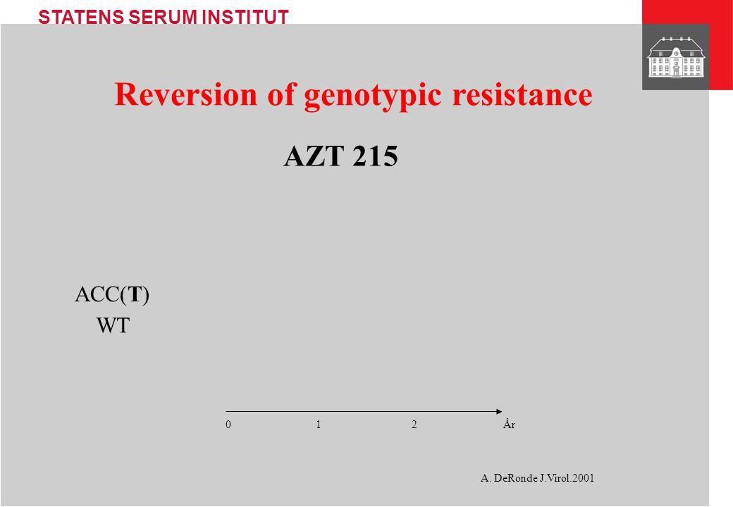 Reversion of genotypic resistance
