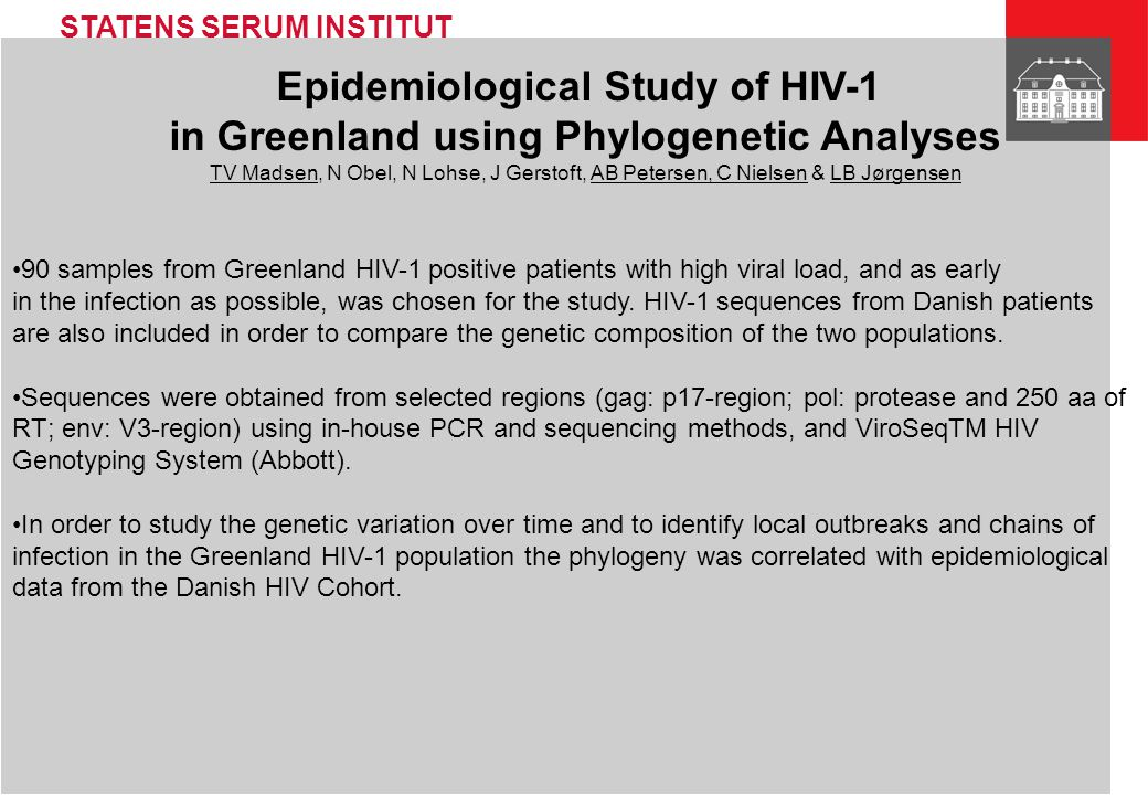 Epidemiological Study of HIV-1